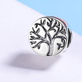 Conta de prata 925 compatível com pandora (árvore da vida)