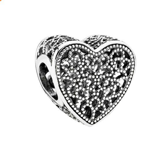 Conta banhada a prata 925 compatível com pandora (Cheio de amor)