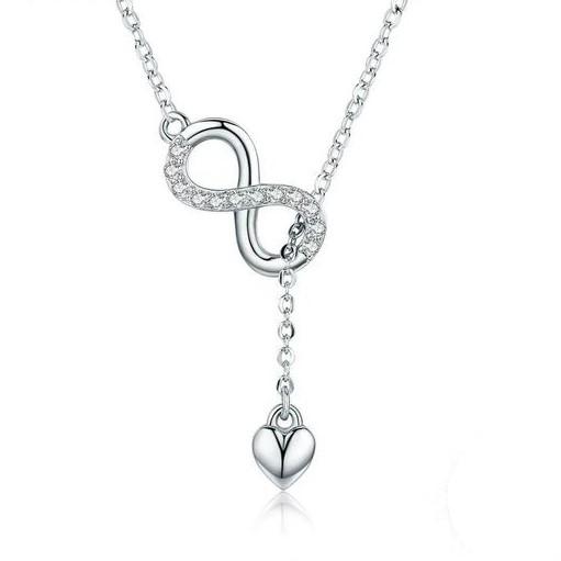 Fio / Colar de prata 925  (infinito e coração)