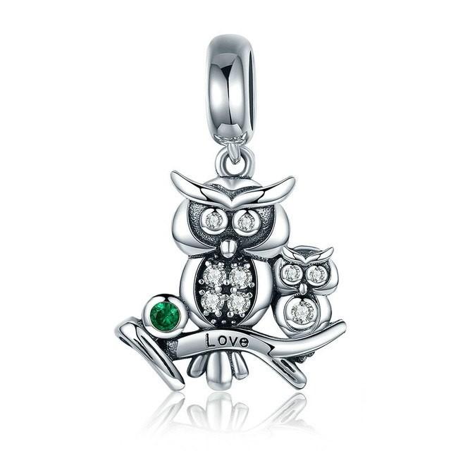 Conta pingente de prata 925 compatível com pandora (Mochos - Love)