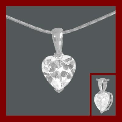 Pendente / pingente prata 925 com pedra zircão
