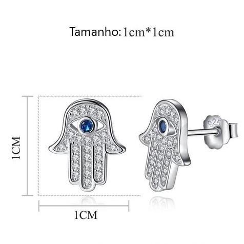 Brincos de prata 925 compatível com pandora (mão de Fátima)