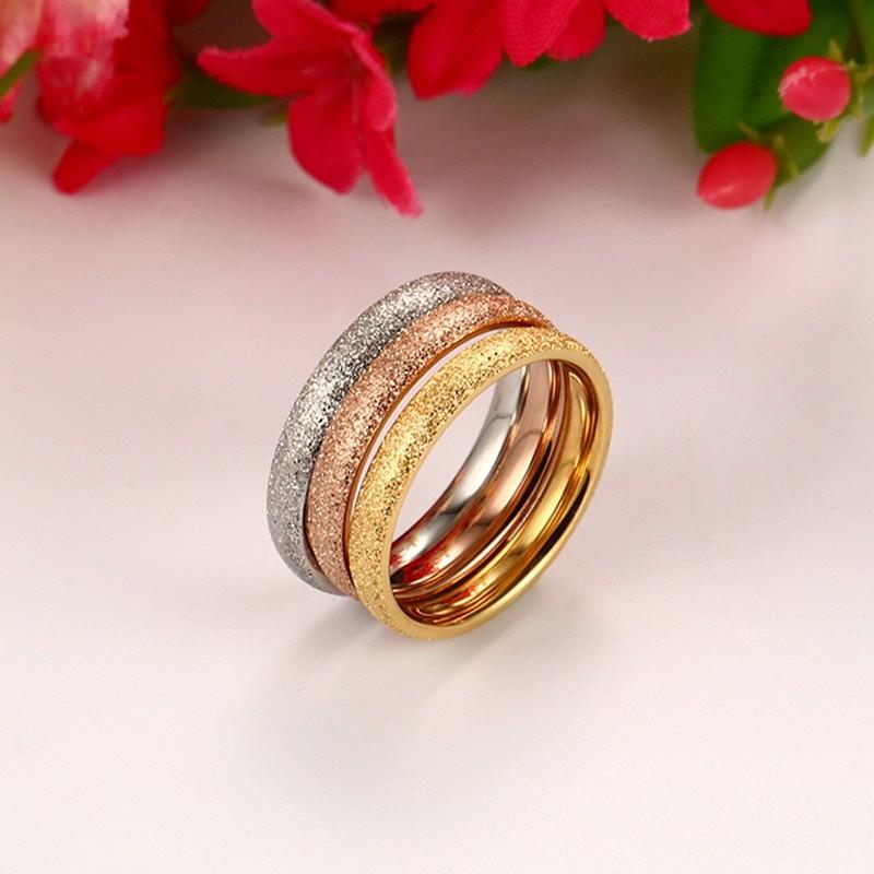 Aliança / anel de aço inoxidável 3 cores (separadas)