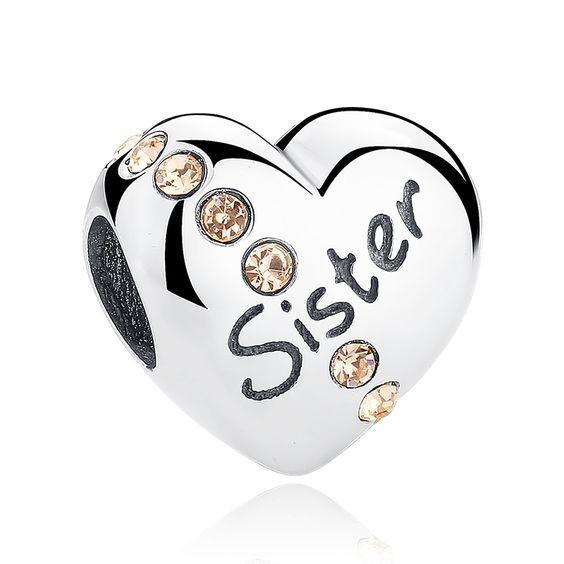 Conta de prata 925 compatível com pandora (sister)