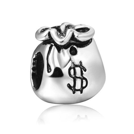 Conta de prata compatível com pandora (fortuna)