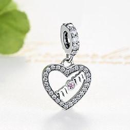 Conta pingente de prata 925 compatível com pandora (mom)