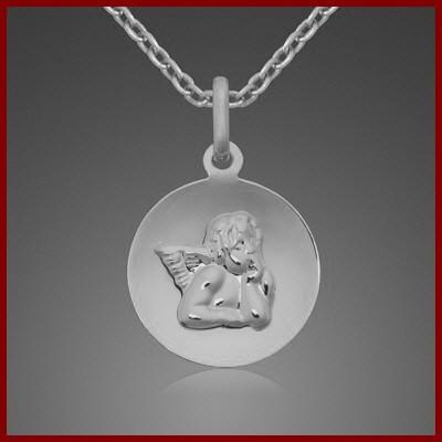 Pendente / Pingente de prata 925 (anjo da guarda)