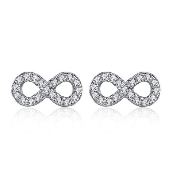 Brincos de prata 925 compatível com pandora (infinito)