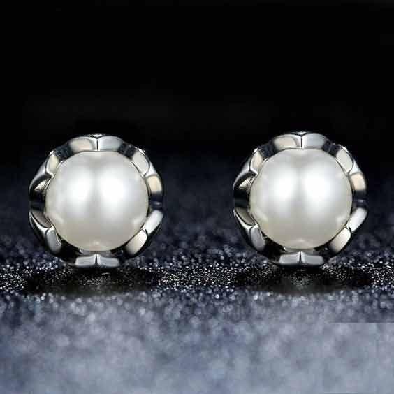 Brincos de prata 925 compatível com pandora (elegância)