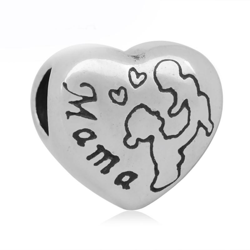 Conta compatível com pandora (coração Mama)