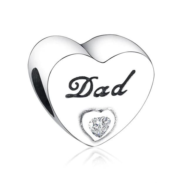Conta de prata 925 compatível com pandora (dad)