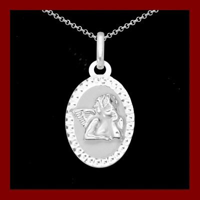 Pendente / Pingente de prata 925 com anjo da guarda