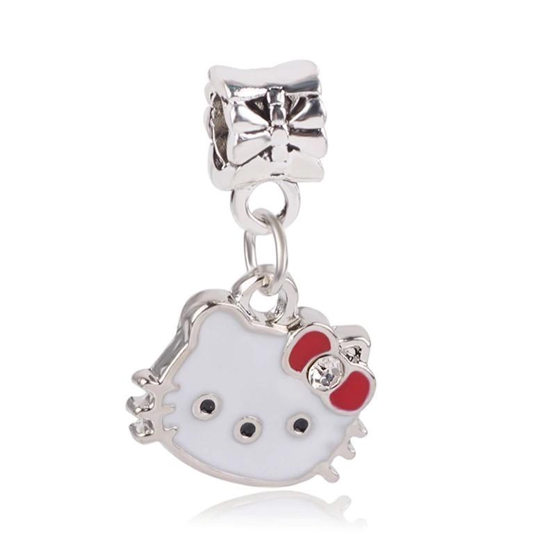 Conta pingente compatível com pandora (Hello Kitty)