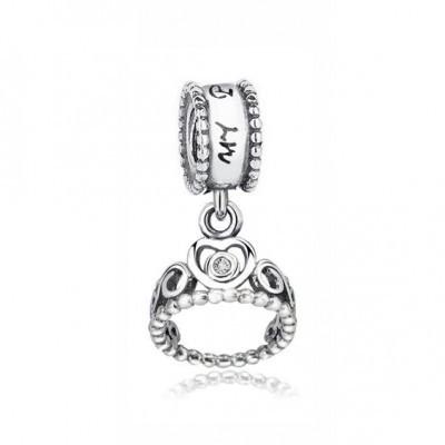 Conta pingente de prata 925 compatível com pandora (Coroa)