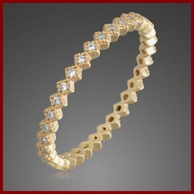 Anel / aliança de prata 925 banhada a ouro com pedras zircão