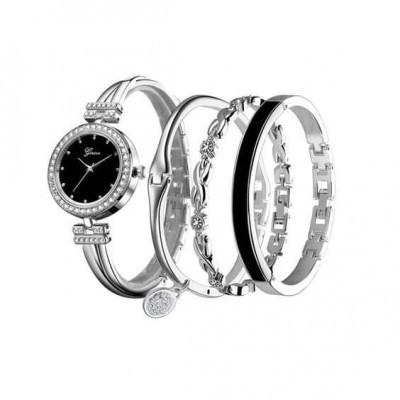 Conjunto relógio + pulseiras