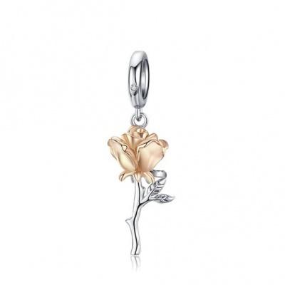 Conta pingente de prata 925 (rosa)