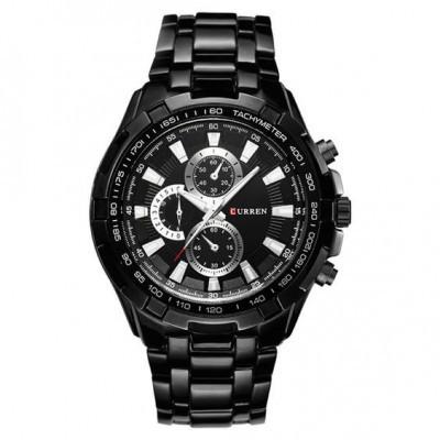 Relógio de aço cor preta