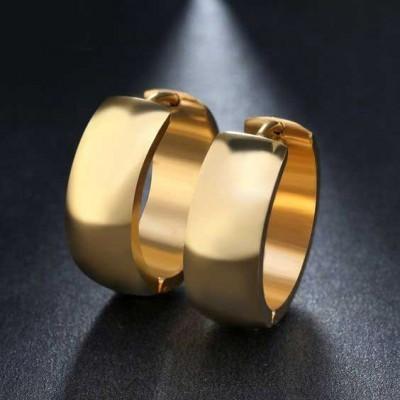 Brincos / argolas de aço inoxidável cor ouro - antialérgico