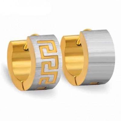 Brincos / argolas de aço inoxidável cor prata / ouro
