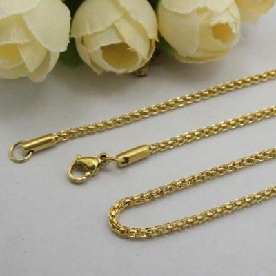 Fio de aço inoxidável cor ouro - Modelo 3