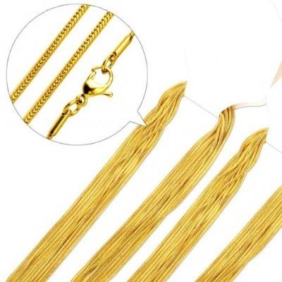 Fio de aço inoxidável cor ouro - modelo 1