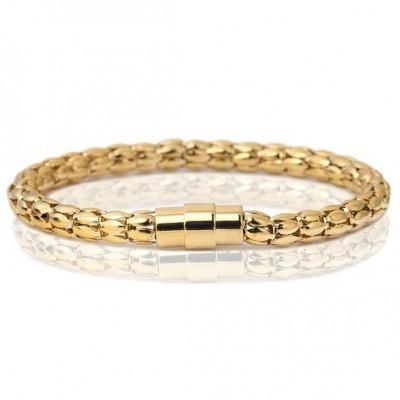 Pulseira cor ouro com fecho magnético