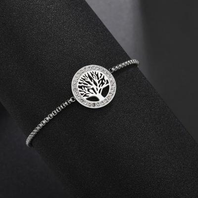 Pulseira de aço inoxidável - Árvore da vida/família
