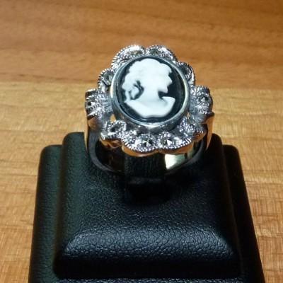 Anel de prata 925 camafeus