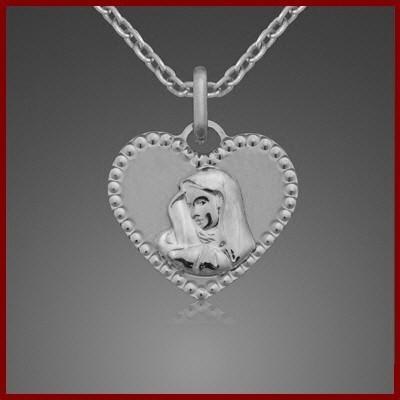 Pendente / Pingente de prata 925 (Virgem Maria)