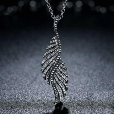 Fio de prata 925 com pendente - Penas majestosas