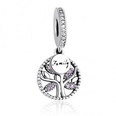 Conta pingente de prata 925 (árvore família)