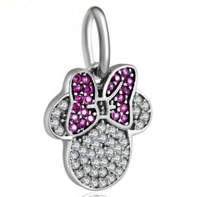 Conta pingente de prata 925 compatível com pandora (Minnie)