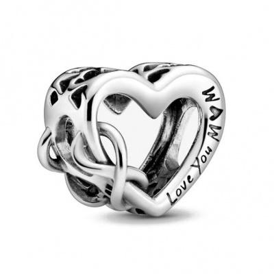 Conta de prata 925 (Love you Mom)