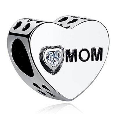 Conta de prata 925 (mom - mãe)