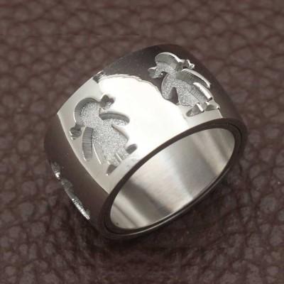 Aliança / anel de aço inoxidável (menina)