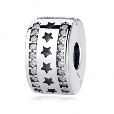 Conta de prata 925 (estrelas) - clip