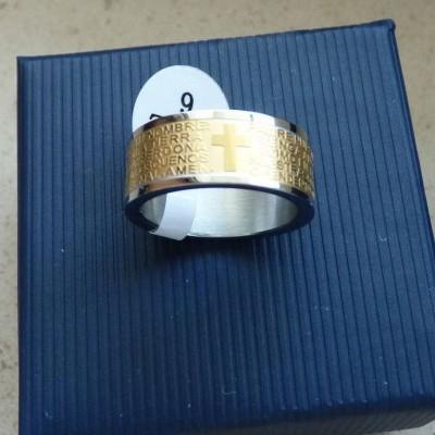 Aliança / Anel de aço cor ouro / prata