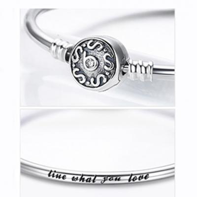 Pulseira de prata 925 compatível com pandora (live what you love)