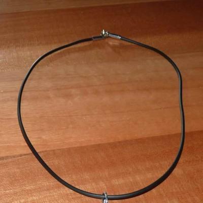 Fio de borracha / silicone com fecho de aço inoxidável
