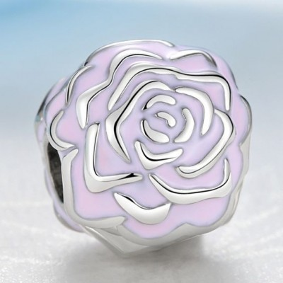 Conta pingente de prata 925 compatível com pandora (jardim de rosas) - Clip