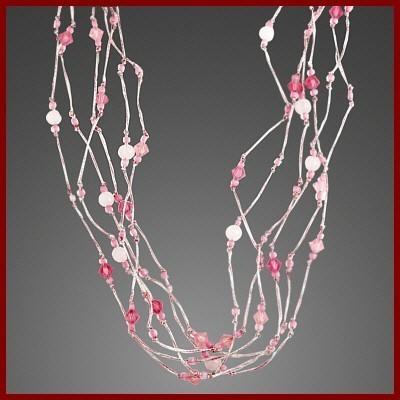 Colar de prata 925 com quartzo rosa