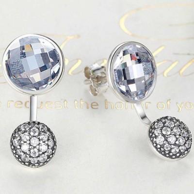 Brincos de prata 925 com pedras zircão