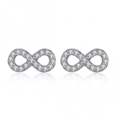 Brincos de prata 925 (infinito)