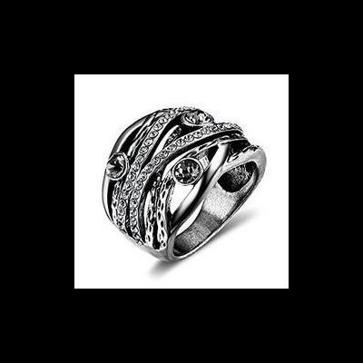 Anel banhado a prata - estilo vintage