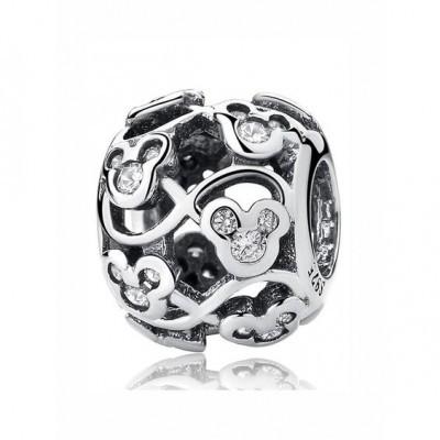 Conta de prata 925 compatível com pandora (Mickey)