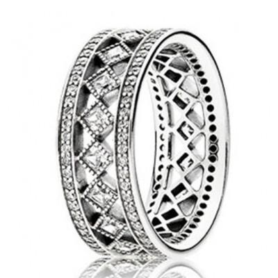 Anel / aliança de prata 925 (30%) compatível com pandora