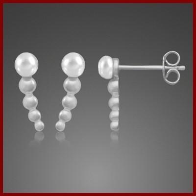 Brincos de prata 925 com pérola natural