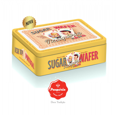 Paupério Sugar Wafer Fans Lata 600g