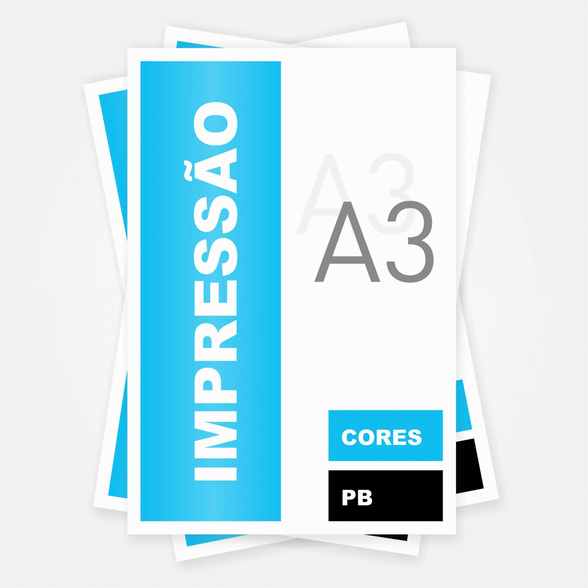 Impressão A3 (Preto ou Cores)